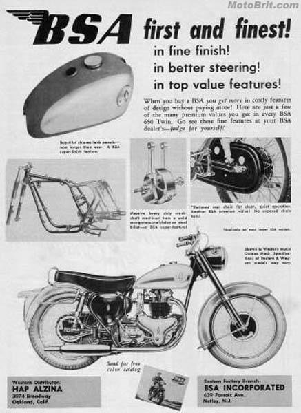 1958 BSA A10 Flash