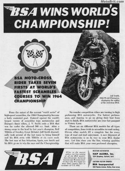 1964 BSA Scrambles Win