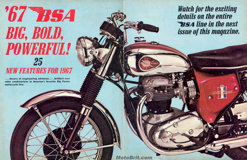 1967 BSA 2 Page Ad