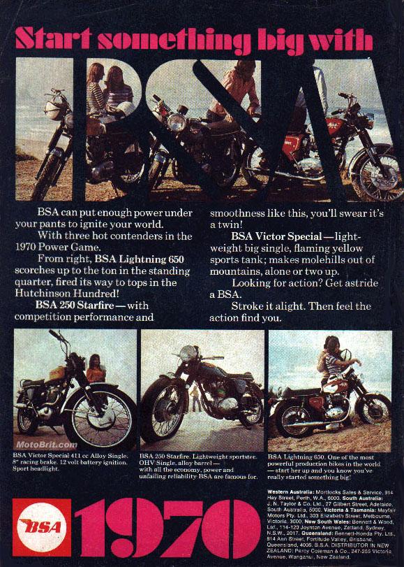 1970 BSA Line Up