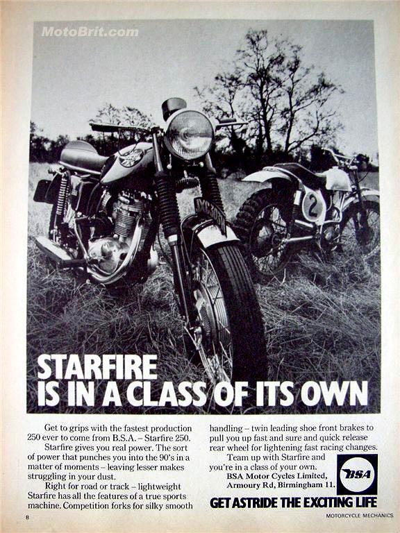 1969 BSA Starfire 250cc