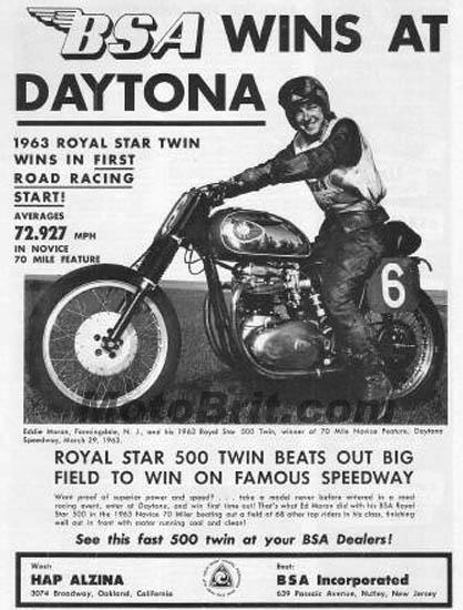 1963 BSA Royal Star 500cc Win