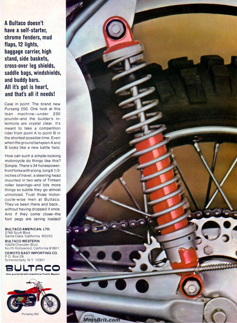Bultaco 250cc Pursang
