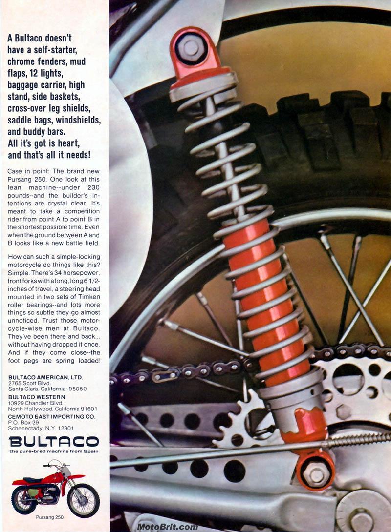 Bultaco 250cc Pursang