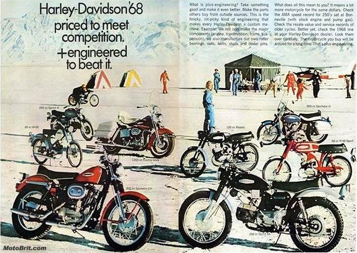 1968 H-D Line