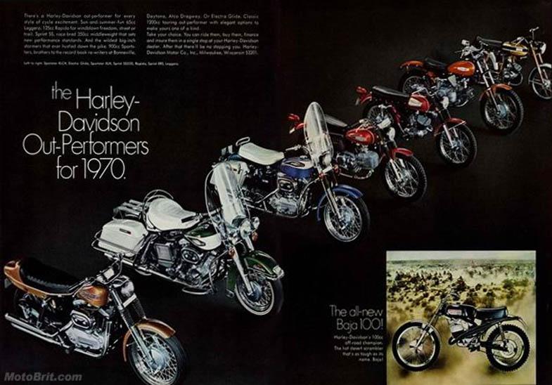 1970 Harley-Davidson Line