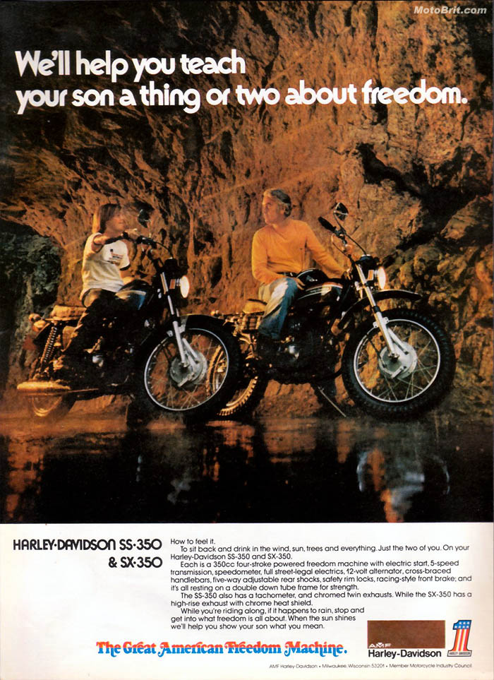 Harley-Davidson 1974 SX-350 and SS-350