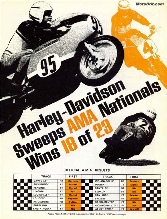 Harley-Davidson Race Wins
