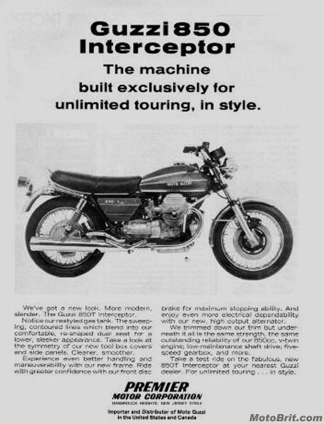 1974 Moto Guzzi 850T Interceptor