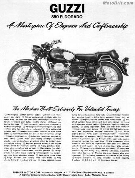 Moto Guzzi Eldorado 850cc