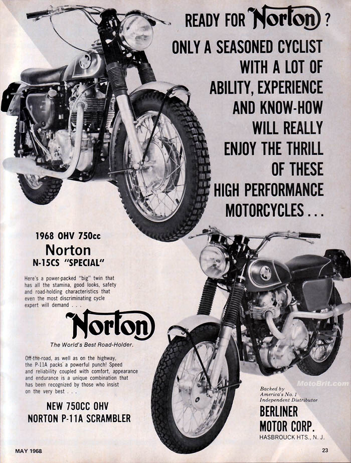 1968 Nortons N15CS and P11