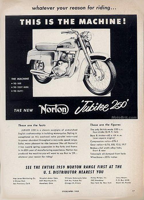 1959 Norton Jubilee 250