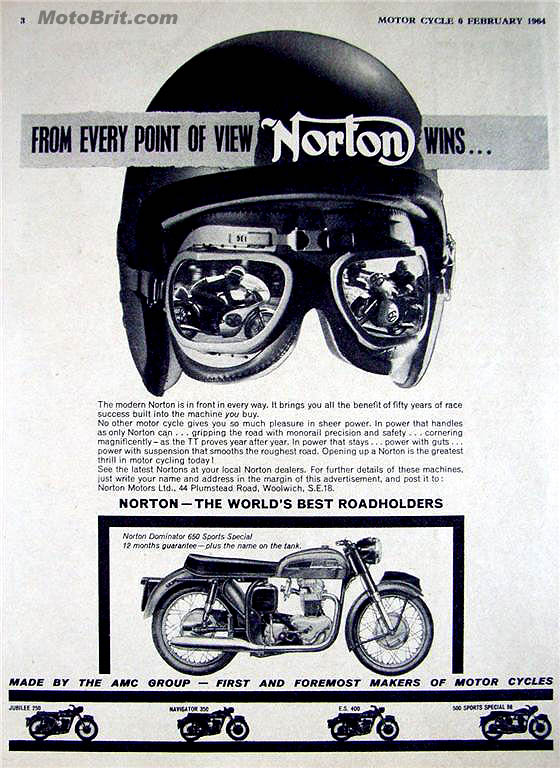 1964 Norton Motorcycle Racing