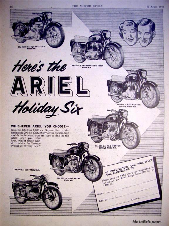 1958 Ariel Line