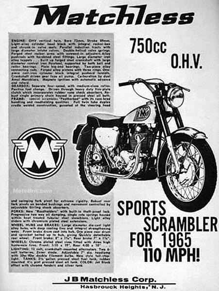 1965 Matchless 750cc Street Scrambler