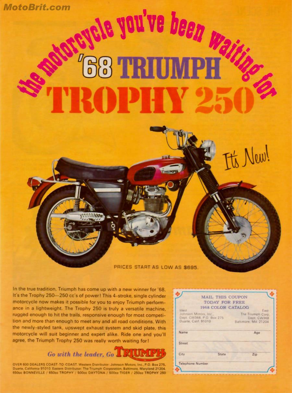 1968 Triumph 250 Trophy