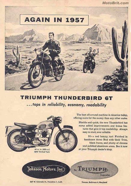 1957 Triumph Thunderbird 6T