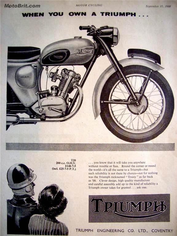 1960 Triumph 200 Bathtub