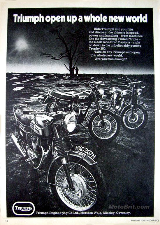 1970 Triumph UK Ad