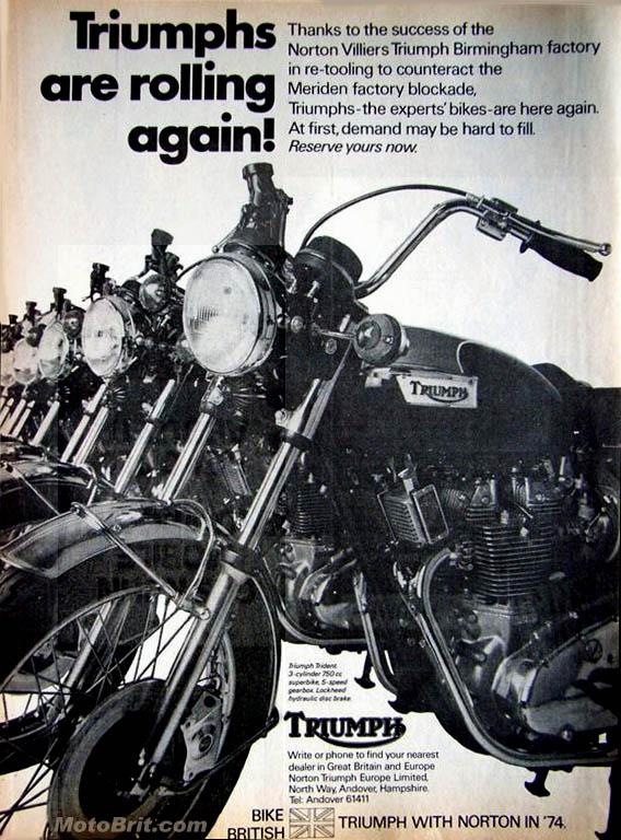 1974 Triumph Trident 750cc