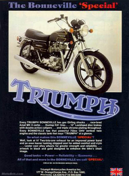 1979 Triumph Bonneville Special T140D