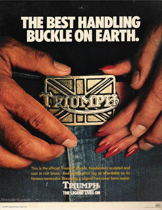 Triumph Belt Buckle Ad