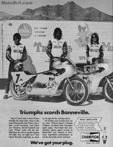 Triumph Big D Cycle at Bonneville