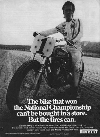 Triumph Gene Romero Pirelli Tire ad