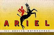 Vintage Ariel Motorcycle brochures