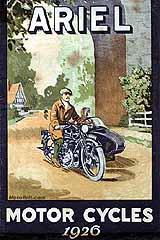 1926 Ariel motorcycle brochure