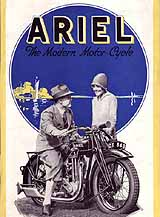 1928 Ariel motorcycle brochure
