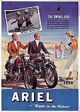 1950 Ariel motorcycle brochure