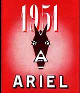 1951 Ariel motorcycle brochure