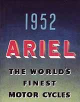 1952 Ariel motorcycle brochure