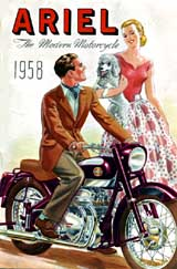 1958 Ariel motorcycle brochure