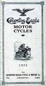1925 Coventry-Eagle motorcycle brochure