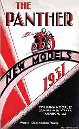 1931 Panther motorcycle brochure