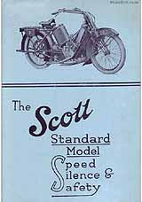 1921 Scott motorcycle brochure