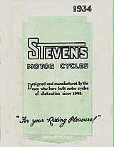 1934 Stevens motorcycle brochure