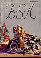1938 BSA motorcycle brochure