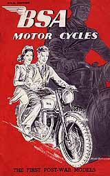 1946 BSA motorcycle brochure