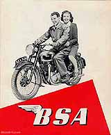 1949 BSA motorcycle brochure