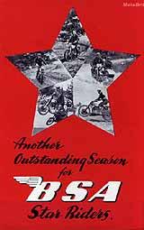 1951 BSA motorcycle brochure