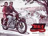 1954 BSA motorcycle brochure