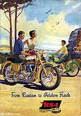 1955 BSA motorcycle brochure