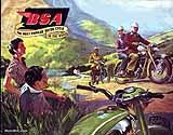 1956 BSA motorcycle brochure