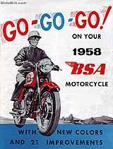 1958 BSA motorcycle brochure type b