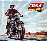 1958 BSA motorcycle brochure