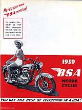 1959 BSA motorcycle brochure