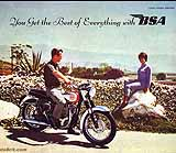 1962 BSA motorcycle brochure